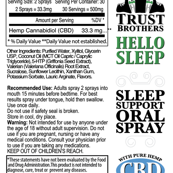 Sleep Support Oral Spray with CBD 500mg