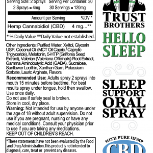 Sleep Support Oral Spray with CBD 120mg
