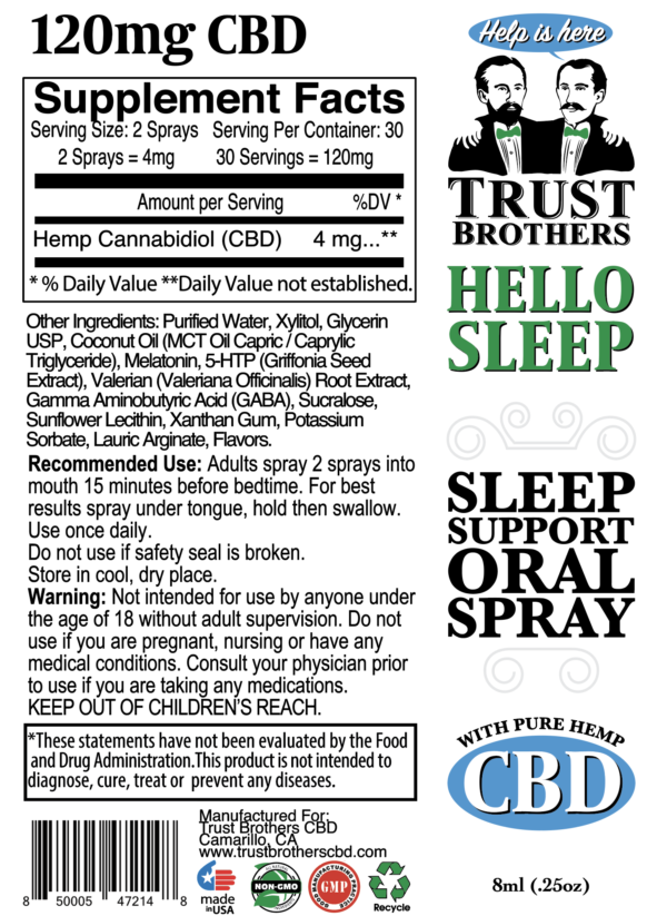 trust brothers cbd, cbd sleep spray