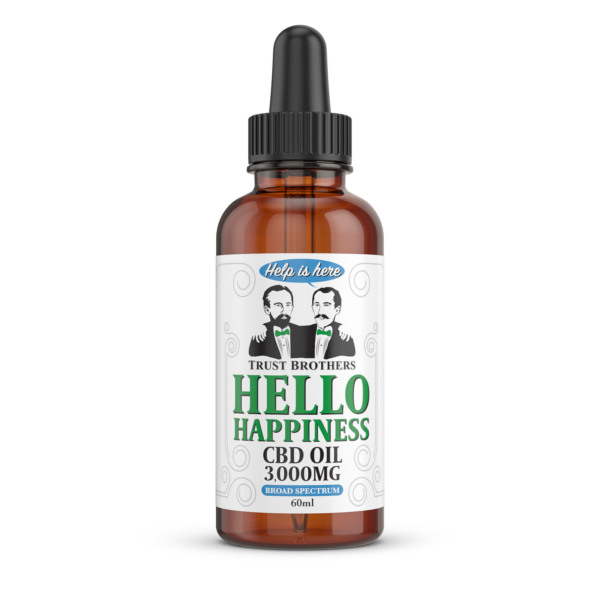 CBD Oil Drops Broad Spectrum 60ml 3,000mg